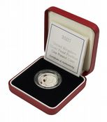 2001 Silver Proof Piedfort One Pound